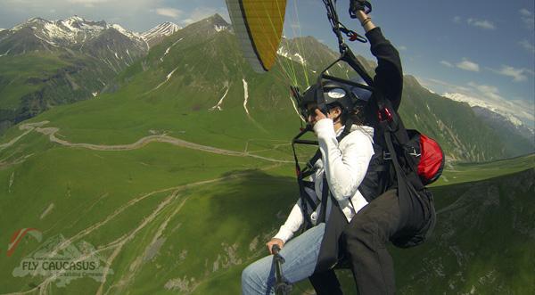 Gudauri Paragliding. Summer. Fly Caucasus