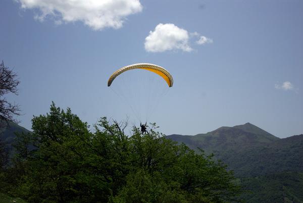 Гудаури. Параплан. Лето. Fly Caucasus