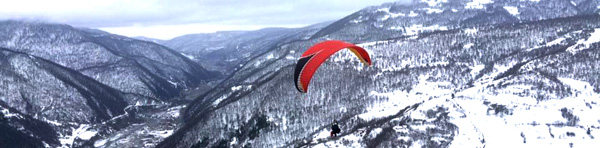 Paragliding in Ananuri